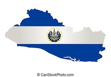 El Salvador Flag - Flag of the Republic of El Salvador...