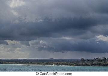 Rainclouds over Fraser Island