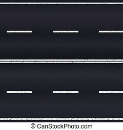 Asphalt road - Asphalt road texture with white stripes...