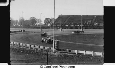 Hot Rod race. - Hot rod race at at Oakland Stadium race...