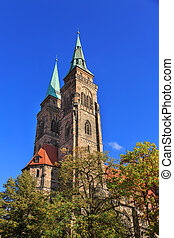 Saint Sebaldus church in Nuremberg, Germany