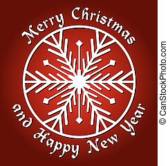 merry christmas and happy new year background on dark red