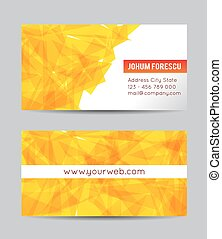 Vector abstract yellow creative business cards