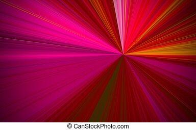 illustration of red sunburst - digital high resolution