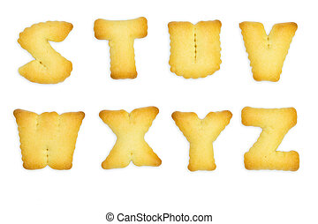 Letters Cookies