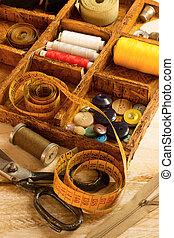 Costura, herramientas,