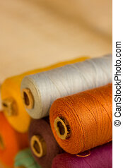 bobbins - Bobbins of multicolor cotton