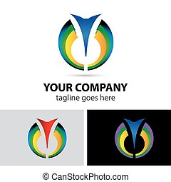 Cosmetics abstract vector logo