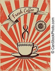 Vintage coffee poster template - Vintage Coffee shop...