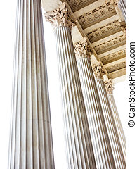 columns at the parliament in vienna, symbol photo for...