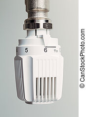 thermostat heating - the thermostat of a radiator is turned...