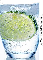 agua, vidrio, y, cal,