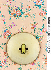 old wallpaper with light switch - an old wallpaper with...
