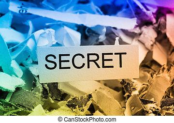 shredded paper secret