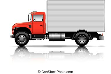 red box truck
