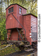 Boxcar with brakeman's cabin - Old box car G10 with...