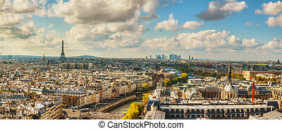 Panoramic aerial view of Paris