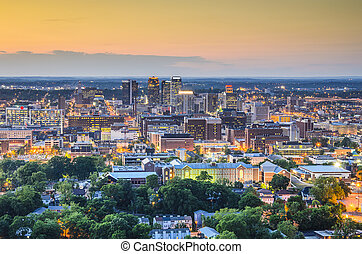 Birmingham, Alabama Skyline - Birmingham, Alabama, USA...