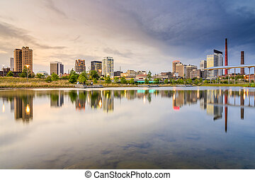 Birmingham, Alabama City Skyline - Birmigham, Alabama, USA...