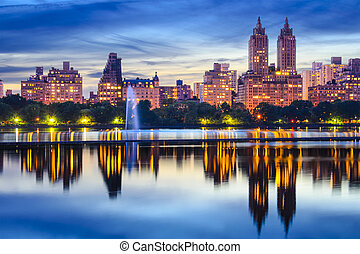 New York City Central Park Skyline - New York City, USA...