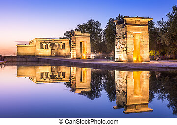 Temple Debod of Madrid - Temple Debod in Madrid, Spain.