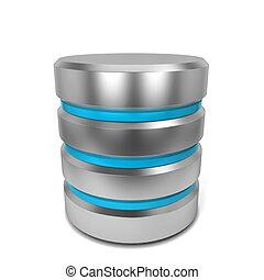 Database icon 3d illustration isolated on white background