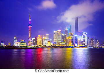 Shanghai, China City Skyline - Shanghai, China city skyline...