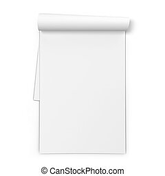 Blank notebook. 3d illustration isolated on white background...