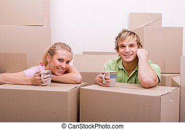 couple moving in together - a lovely couple moving in...