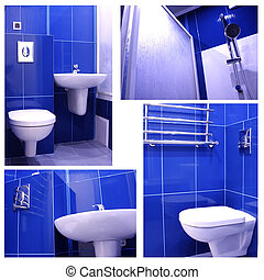 Modern Blue Bathroom - A selection of beautiful pictures of...