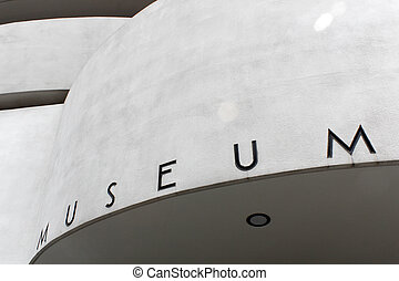 NEW YORK - SEPTEMBER 01: The Solomon R Guggenheim Museum of...