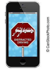 Warning of Distracted Driving, Mobile Phone Warning of...