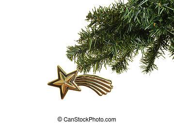 antique star christmas ornament