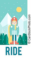 Vector pattern for your phone case with nice snowboarder,...