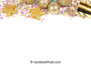 New Years Eve border isolated - New Years Eve border of...