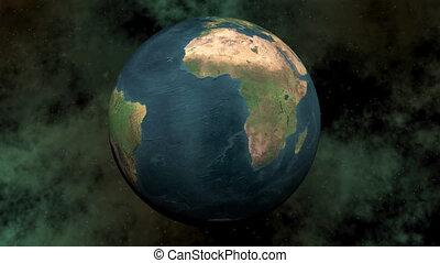 Seamless looping earth - 3D render - Seamless looping earth...