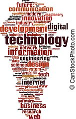 Technology word cloud concept Vector illustration
