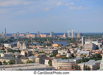 aerial view of one district in Kiev