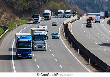 truck on highway - truck on the highway road transport for...