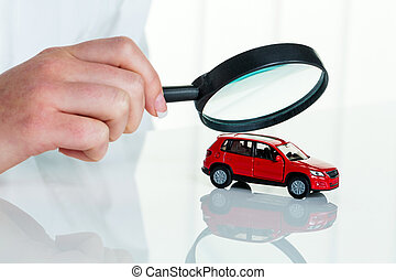 car is examined by doctor - a model of a car is examined by...