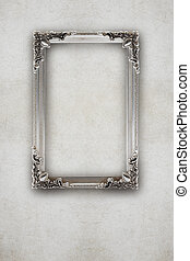 old silver picture frame on the wall effects ruined...