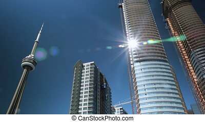 Condo construction in Toronto. - Timelapse of condominiums...