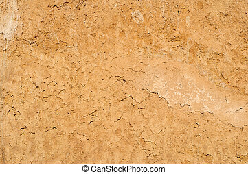 Clay soil texture background, dried surface