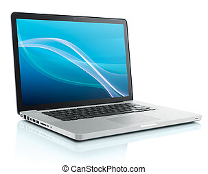 informatique, ordinateur portable
