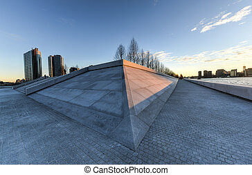FDR Four Freedoms Park, Roosevelt Island, New York - The...