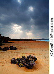 Valdearenas Beach. Spain - Valdearenas Beach in winter....