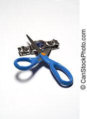 Cutting clok with scissors