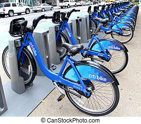 NEW YORK - SEPTEMBER 02: Citi Bike docking station on...