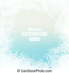 Abstract scratches on ice. Winter background template