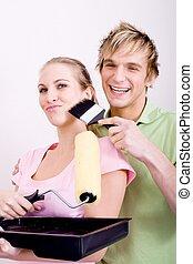 joking couple